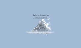 Rules of Adventure