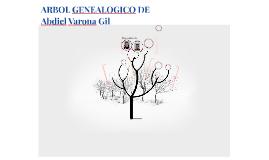 ARBOL GENEALOGICO DE Abdiel Varona Gil