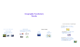 Geography Vocabulary Words