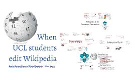 When UCL students write Wikipedia