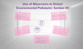 Use of Biosensors to Detect Environmental Pollutants: Sectio