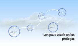 Lenguaje usado en los prólogos