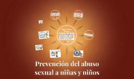 Prevención del abuso sexual a niñas y niños