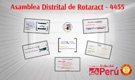 Asamblea Distrital 4455 de Rotaract