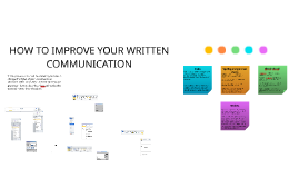 HOW TO IMPROVE YOUR WRITTEN