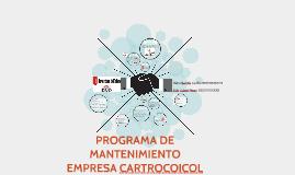 PROGRAMA DE MANTENIMIENTO EMPRESA CARTROCOICOL