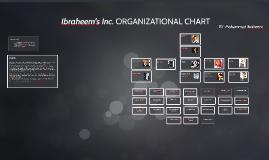 Ibraheem's Inc. organizational chart
