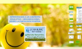 Intervención desde la Psicología Positiva