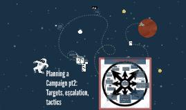 Planning a Campaign pt2: Targets, escalation, tactics