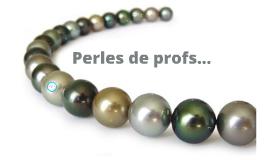 Perles de profs