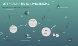LITERATURA EN EL NIVEL INICIAL