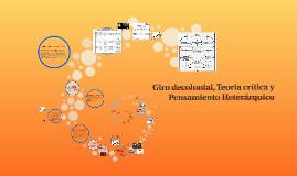 Copy of Giro decolonial, Teoría crítica y Pensamiento Heterárquico