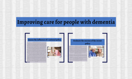 Improving care for people with dementia