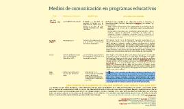 Medios de comunicación en programas educativos