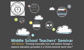 Teacher Seminar 2013