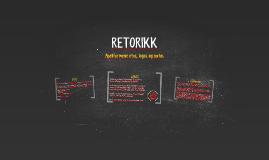 RETORIKK