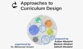Copy of Approaches to  Curriculum Design