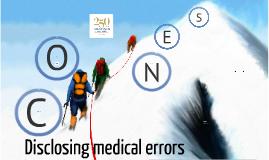 Cones - Disclosing medical errors
