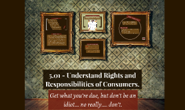 5.01 - Understand Rights and Responsibilities of consumers.