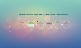 Redefinición Estratégica de la Gerencia de Desarrollo 2015