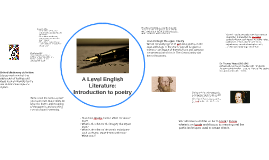 AS English Literature: Introduction to poetry