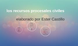los recursos procesales civiles