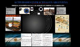 ACTIVIDADES EXTRACTIVAS EN ARGENTINA