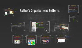 Author's Organizational Patterns