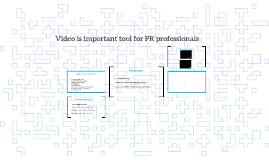 Video is important tool for PR professionals