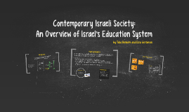 Contemporary Israeli Society: An Overview