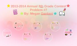 2013-2014 Annual 8th Grade Contest