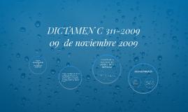 DICTAMEN C 311-2009