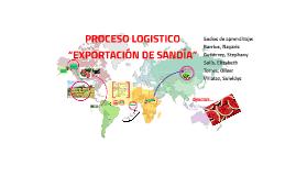 """PROCESO logístico """"EXPORTACIÓN DE SANDÍA"""""""