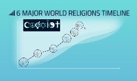 MAJOR WORLD RELIGIONS TIMELINE By Rob Horenstein On Prezi - 6 major religions