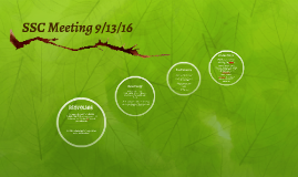 SSC Meeting 9/13/16