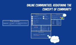 Online Communities: Redefining the Concept of Community