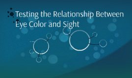 Testing the Relationship Between Eye Color and Sight