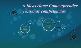 11 Ideas clave: como aprender y enseñar competencias