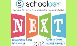 Developing Personalized Standards Based Curriculum on Schoology
