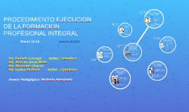 PROCEDIMIENTO EJECUCION DE LA FORMACION PROFESIONAL INTEGRAL