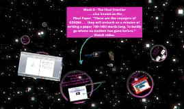 Week 5 - The Final Frontier