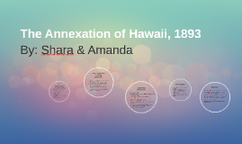 The Annexation of Hawaii, 1893