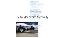 Auto Mechanics Mentality