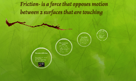 Copy of Friction- is a force that opposes motion between 2 surfaces