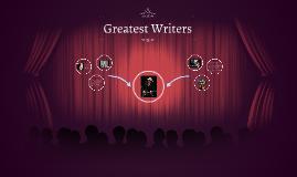 Greatest Writers