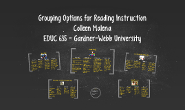 Grouping Options for Reading Instruction