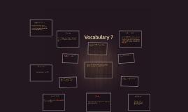 Vocabulary 7