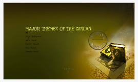 Copy of Copy of Major Themes of the Qur'an by Fazlur Rahman