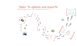 Copy of Taller de opinión