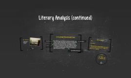 Literary Analysis (continued)